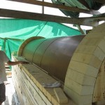 Anagama wood fired kiln construction