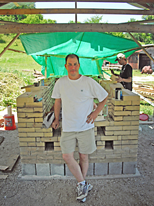 David during kiln building